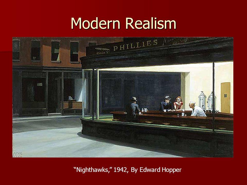 Modern Realism Nighthawks, 1942, By Edward Hopper