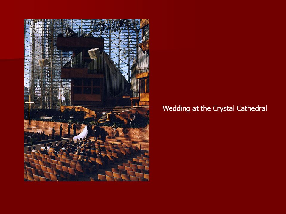 Wedding at the Crystal Cathedral