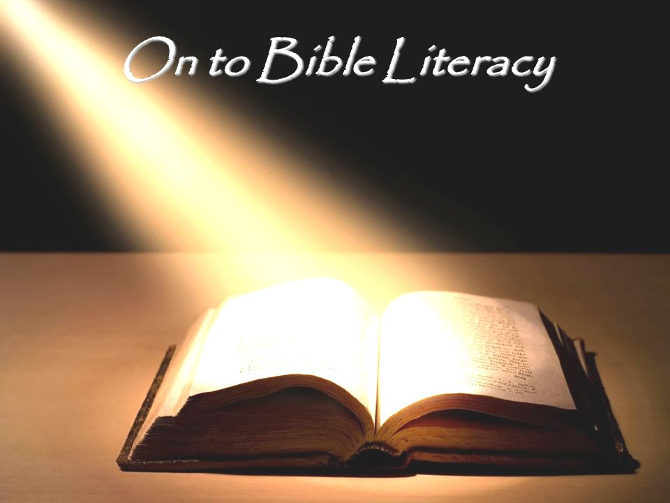 On to Bible Literacy