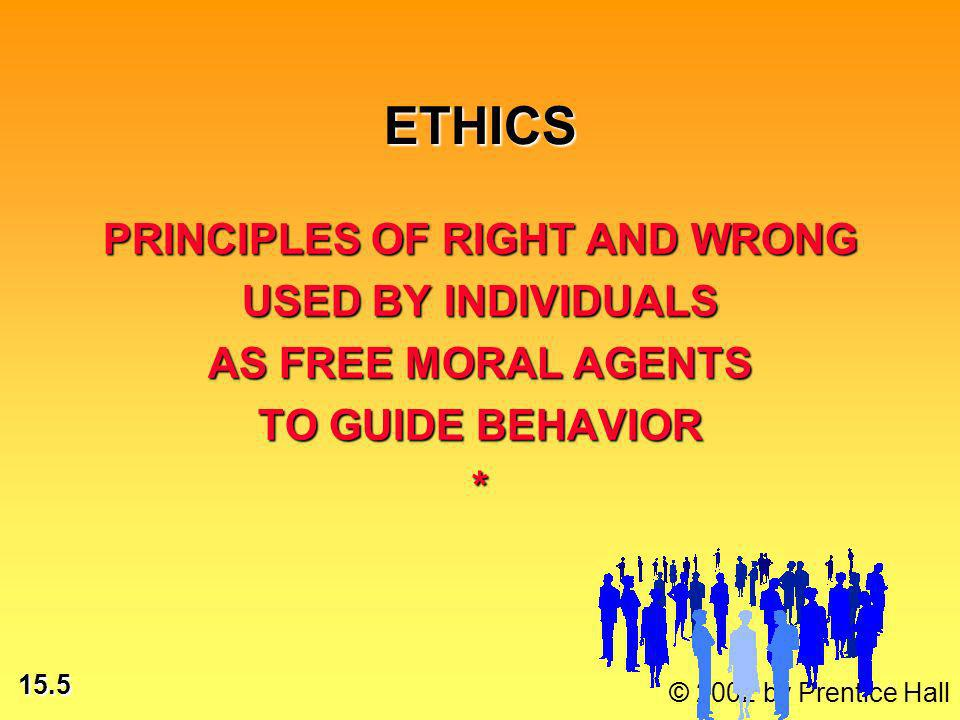 15.16 © 2002 by Prentice Hall ETHICAL ISSUES: Who is morally responsible for consequences of use.