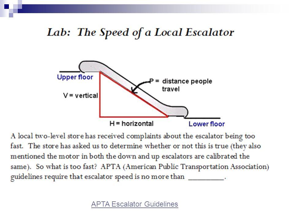 APTA Escalator Guidelines