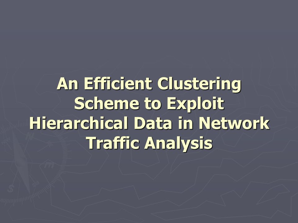Abstract There is significant need to improve existing techniques for clustering multivariate network traffic flow record and quickly infer underlying traffic patterns.