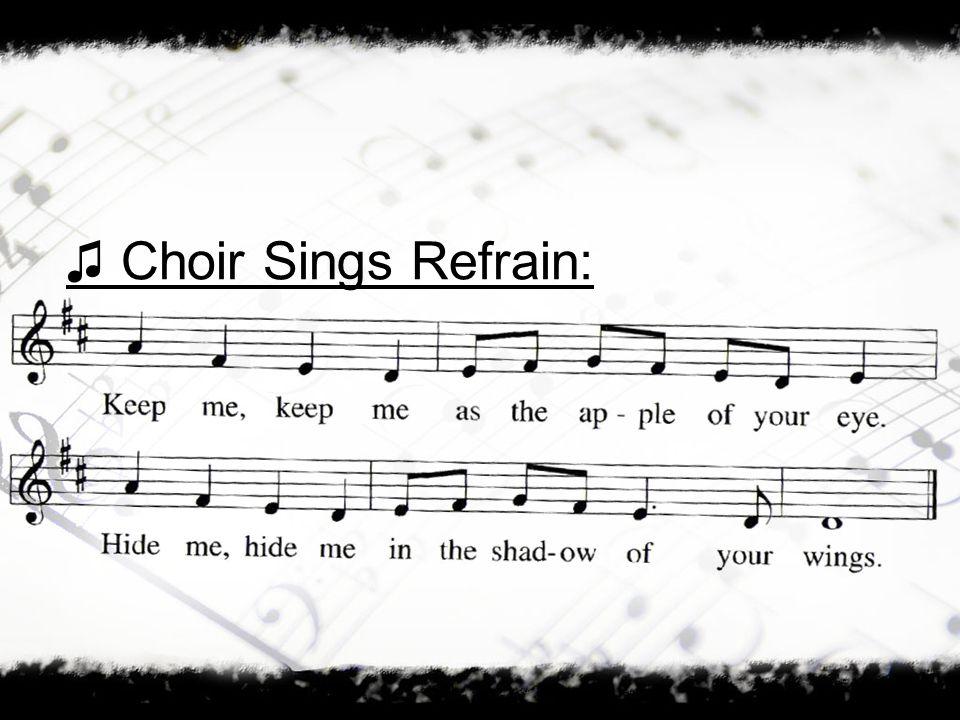 Choir Sings Refrain: