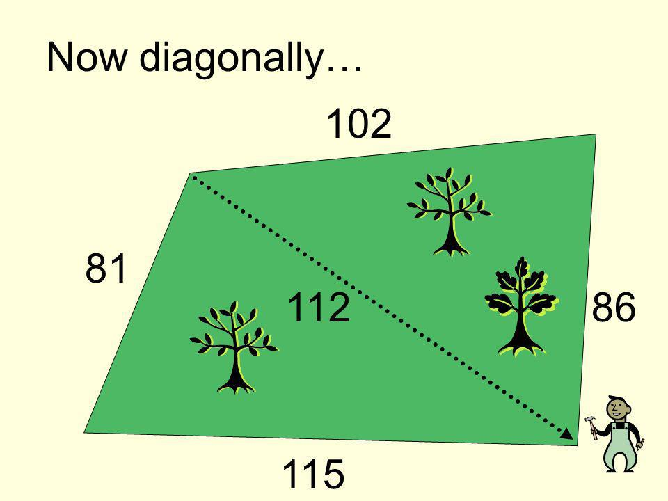 Now diagonally… 112