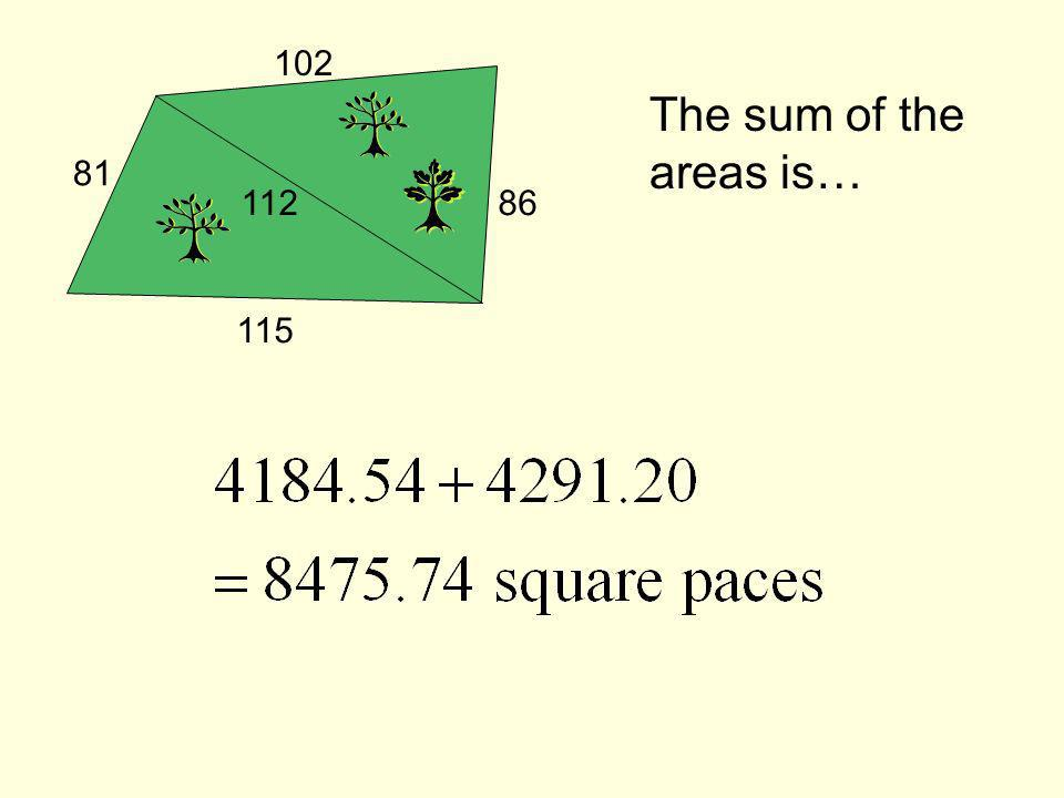 The sum of the areas is…