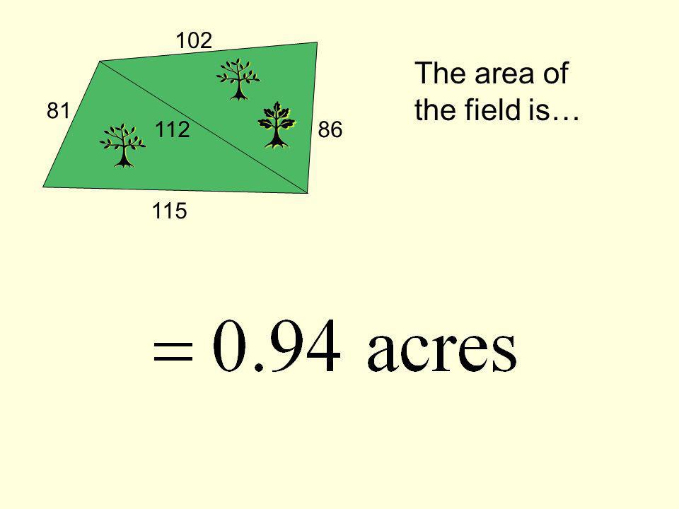 The area of the field is…