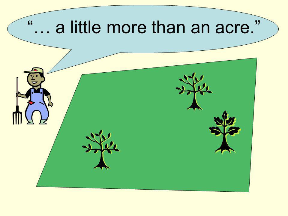 … a little more than an acre.