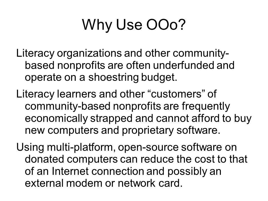 Why Use OOo.