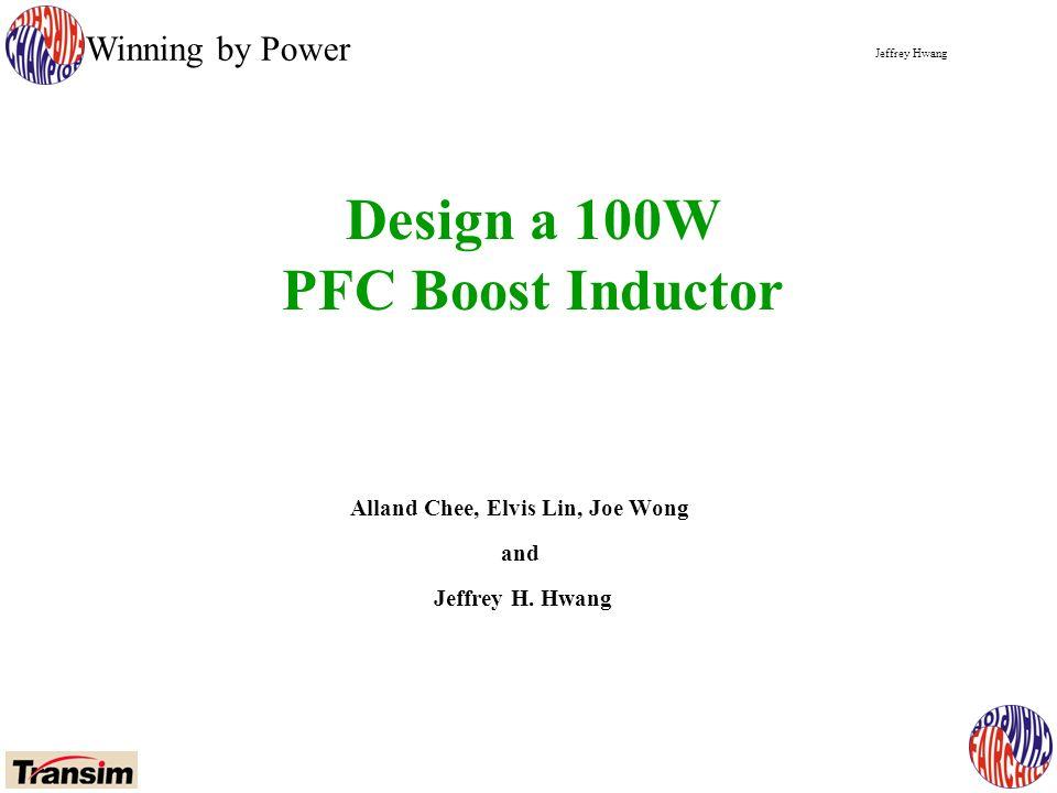 Jeffrey Hwang Winning by Power Alland Chee, Elvis Lin, Joe Wong and Jeffrey H.