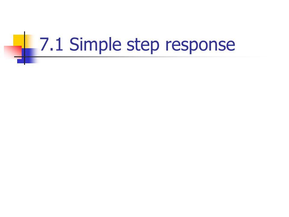 7.1 Simple step response
