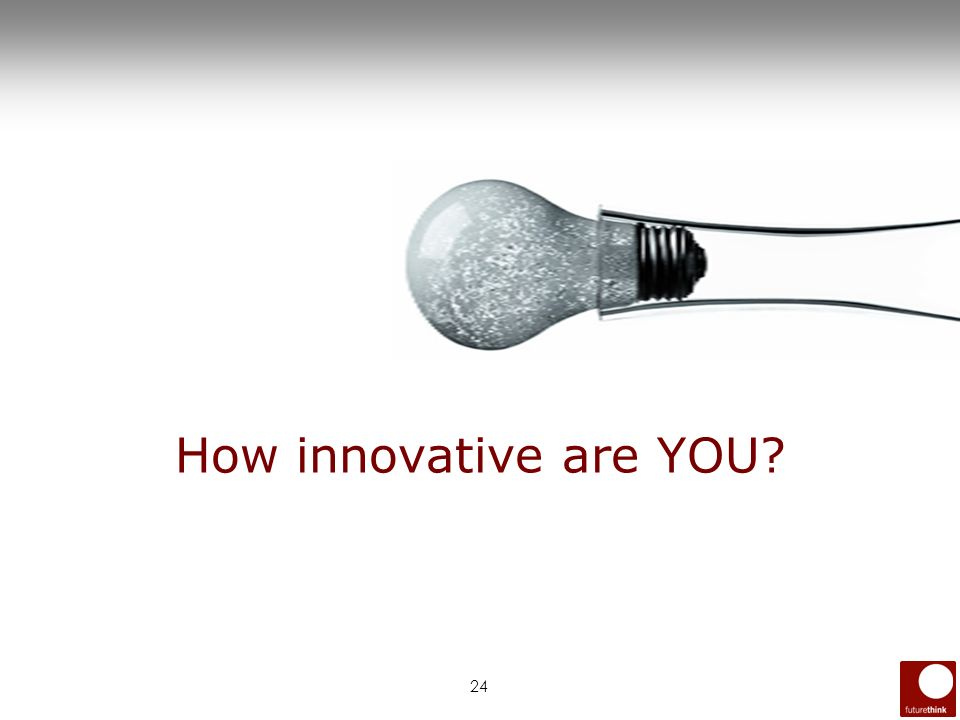24 How innovative are YOU?