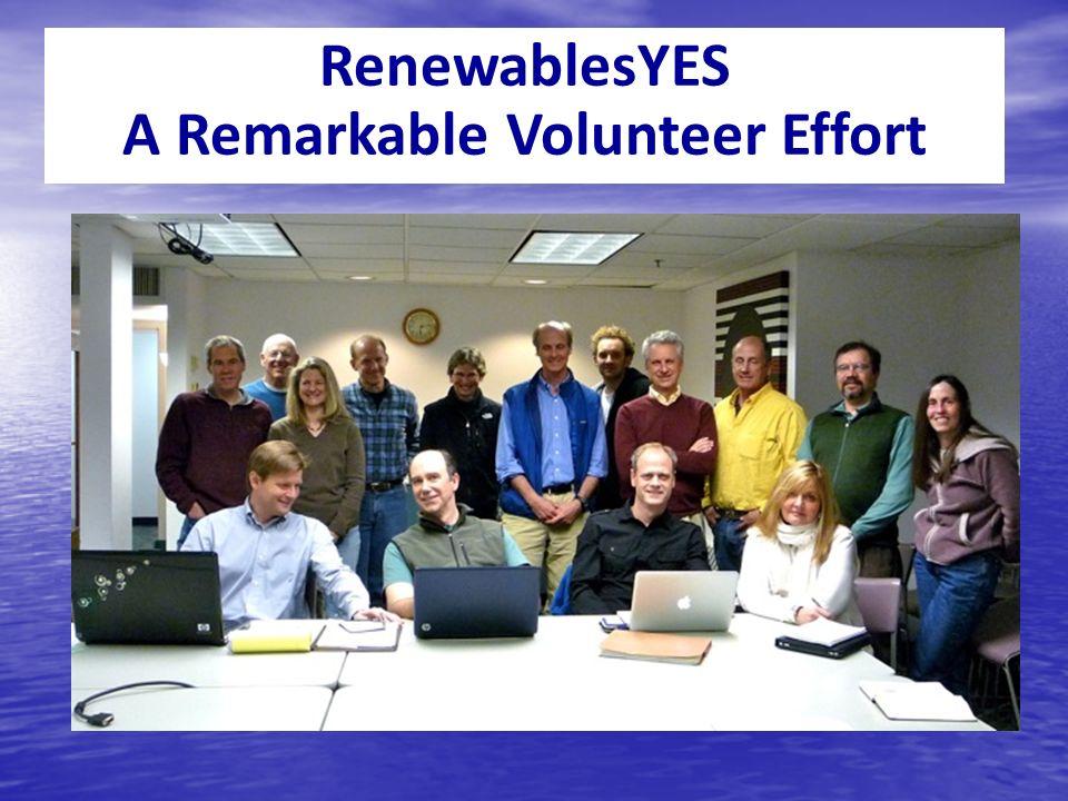 RenewablesYES A Remarkable Volunteer Effort