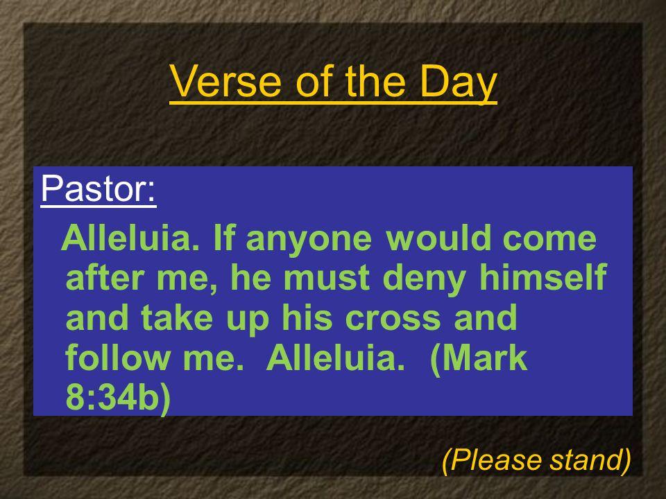 Pastor: Alleluia.