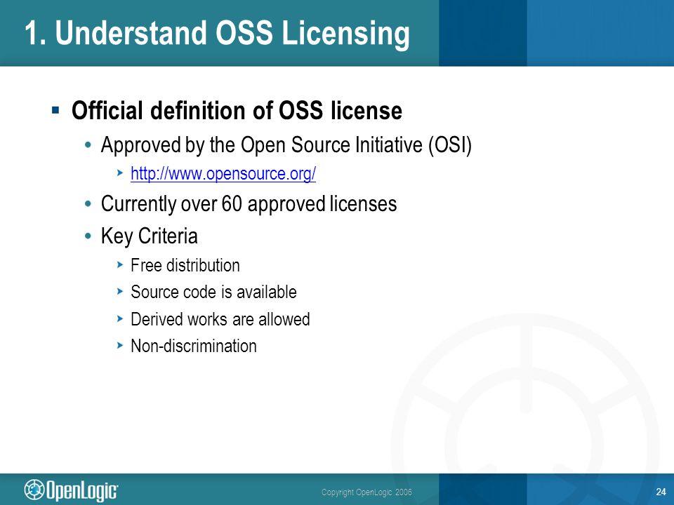 Copyright OpenLogic 2006 24 1.