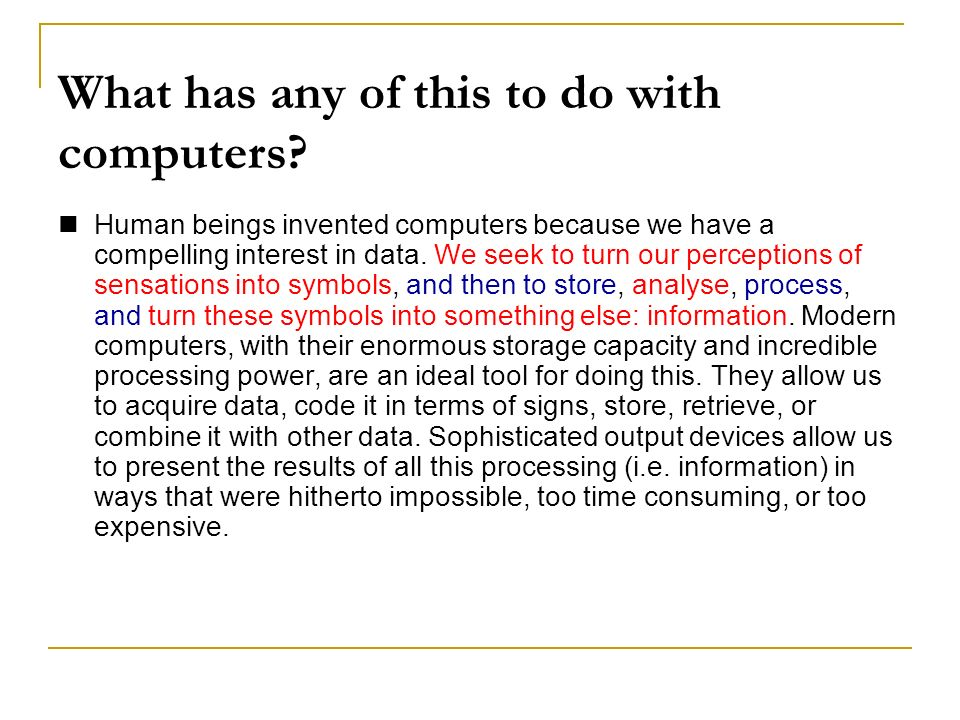 What has any of this to do with computers.