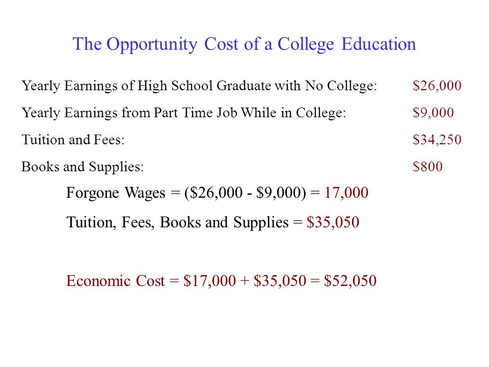 The Opportunity Cost of Attending Quinnipiac How Much Does it Cost to Attend QU? Estimated 2010-11 Cost of Education :Tuition & Fees$34,250 Room and B
