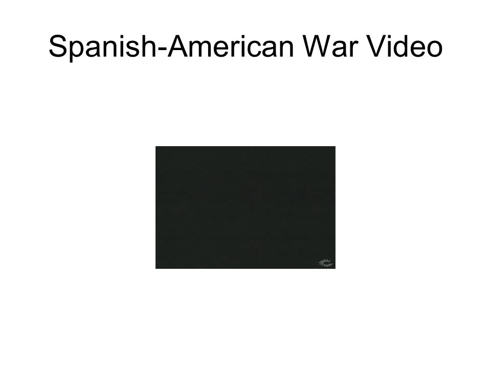 Spanish-American War Video