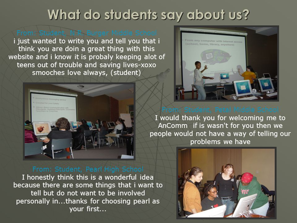 What do students say about us. From: Student, N.R.