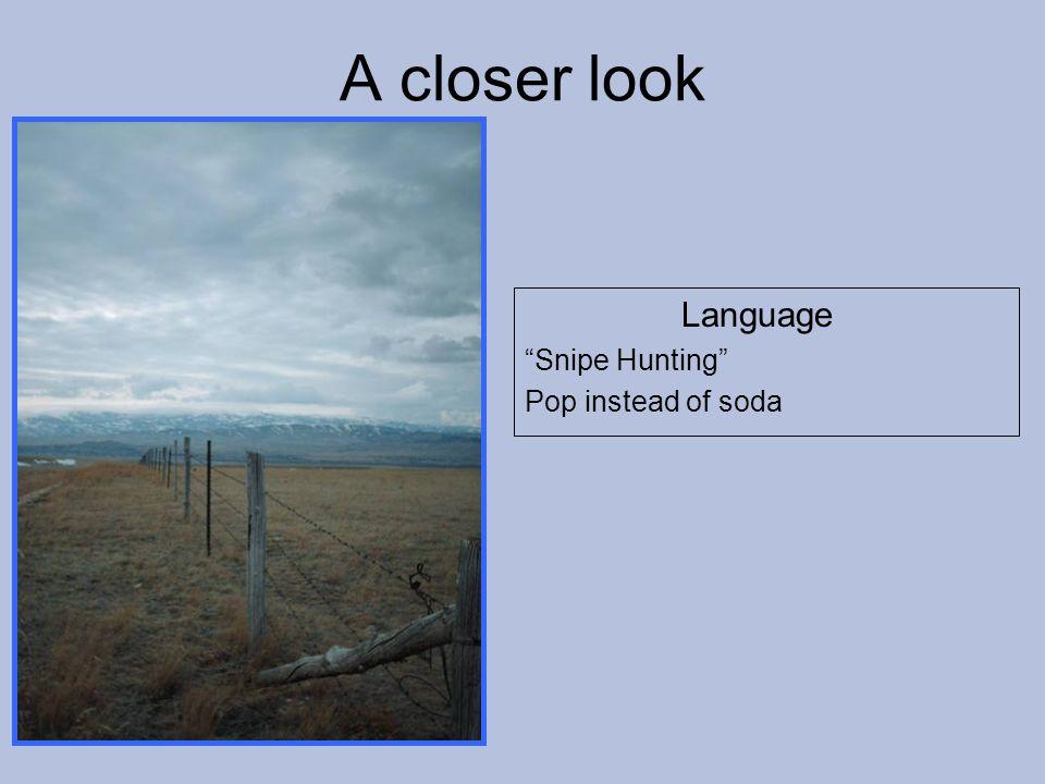 Language Snipe Hunting Pop instead of soda