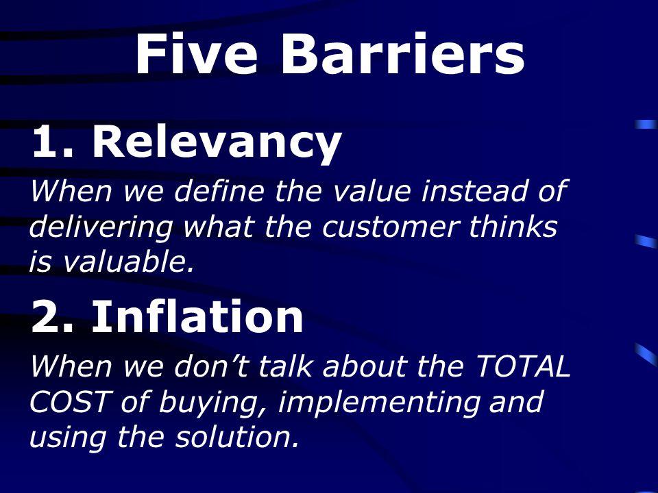 Five Barriers 3.