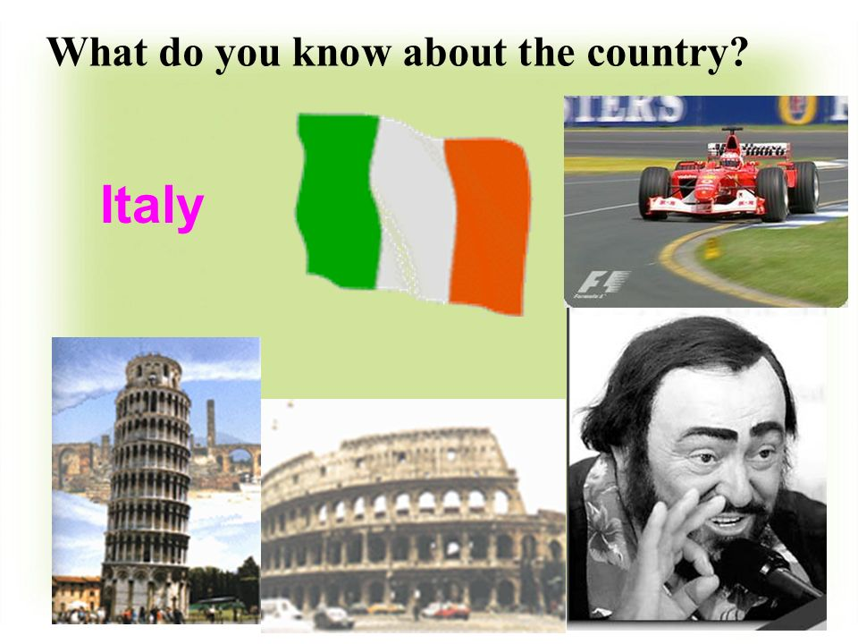 Italy What do you know about the country?