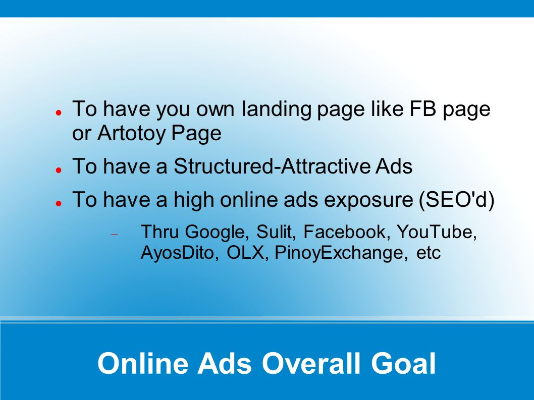 Step by Step Ads Posting Login & Create Keywords Create FB Page & Upload Pictures Post A Classified Create Ads Template Generate Ads and more...
