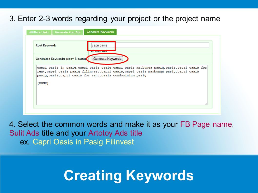Creating a Facebook Page 5.Login to facebook.com 6.