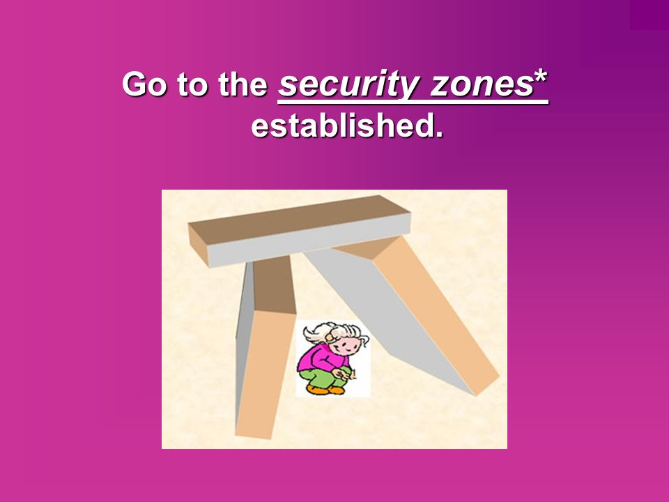 Go to the security zones* established.