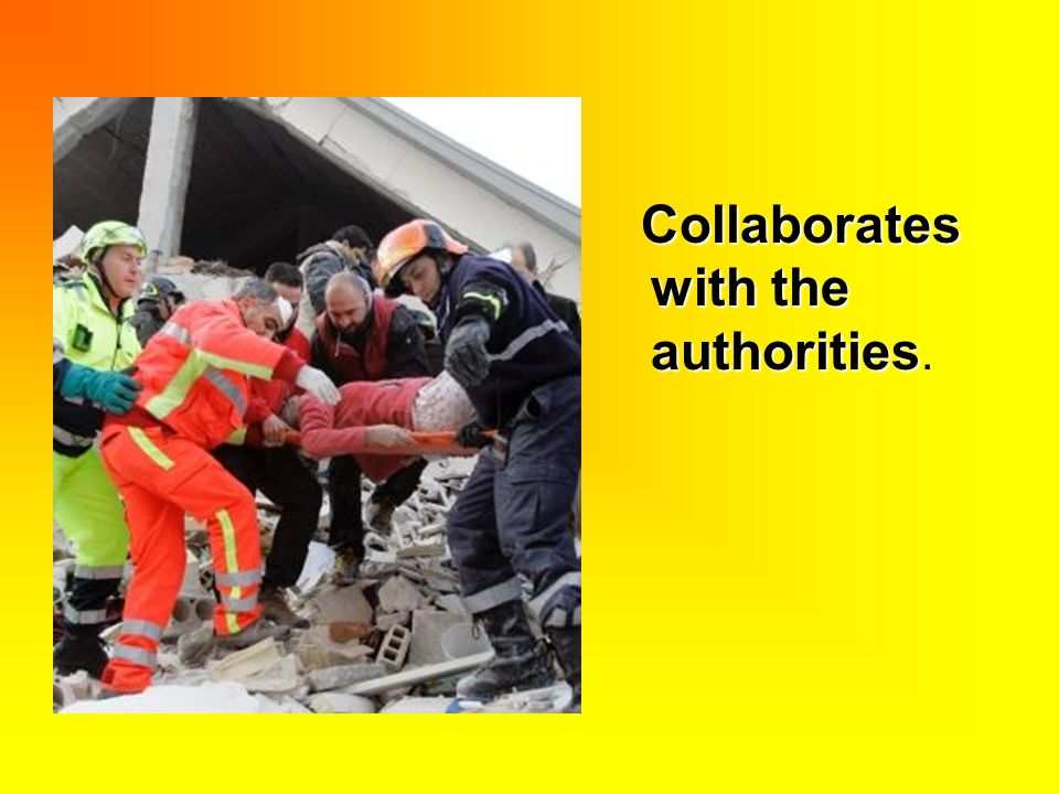 Collaborates with the authorities Collaborates with the authorities.