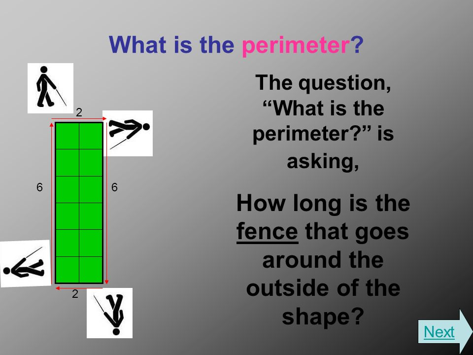 What is the perimeter. The question, What is the perimeter.