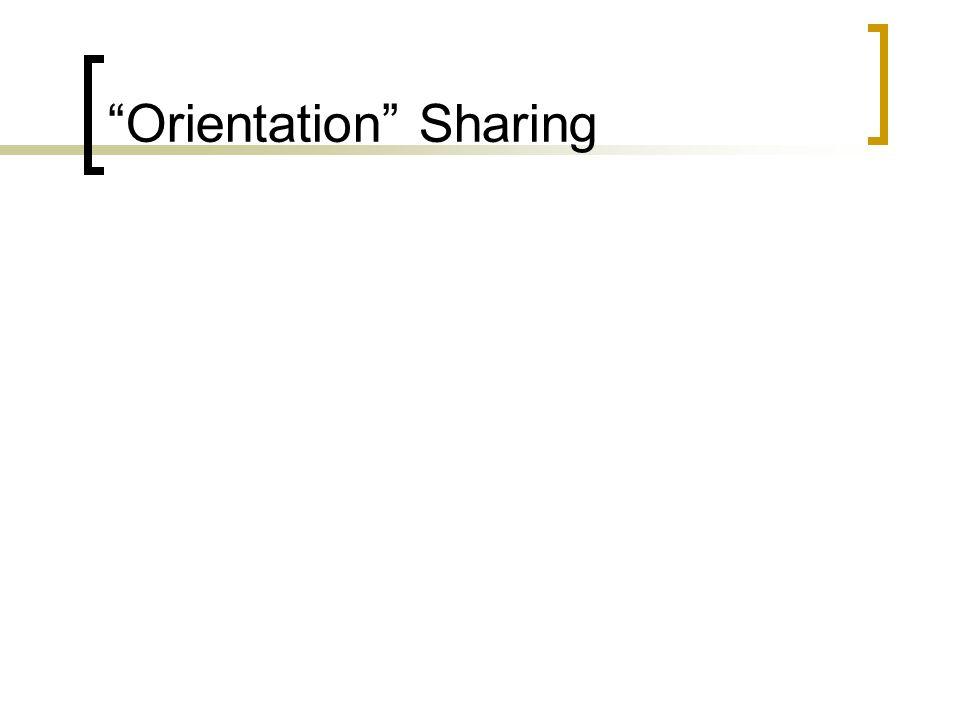 Orientation Sharing