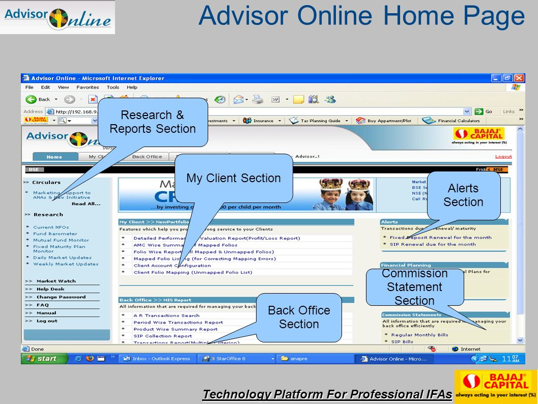 Technology Platform For Professional IFAs Enter the information and click here for Tax Planning