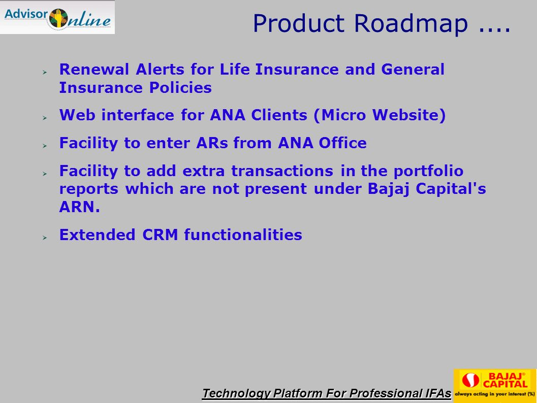 Product Roadmap....