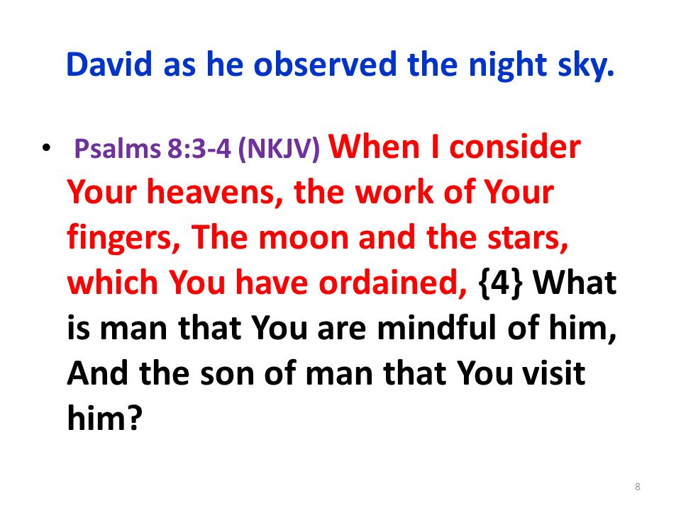 David as he observed the night sky.