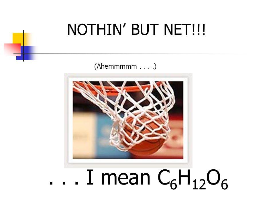 NOTHIN BUT NET!!!... I mean C 6 H 12 O 6 (Ahemmmmm....)