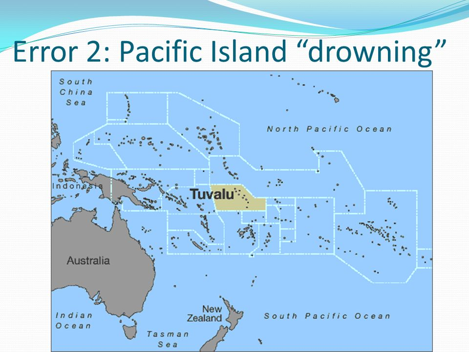 Error 2: Pacific Island drowning