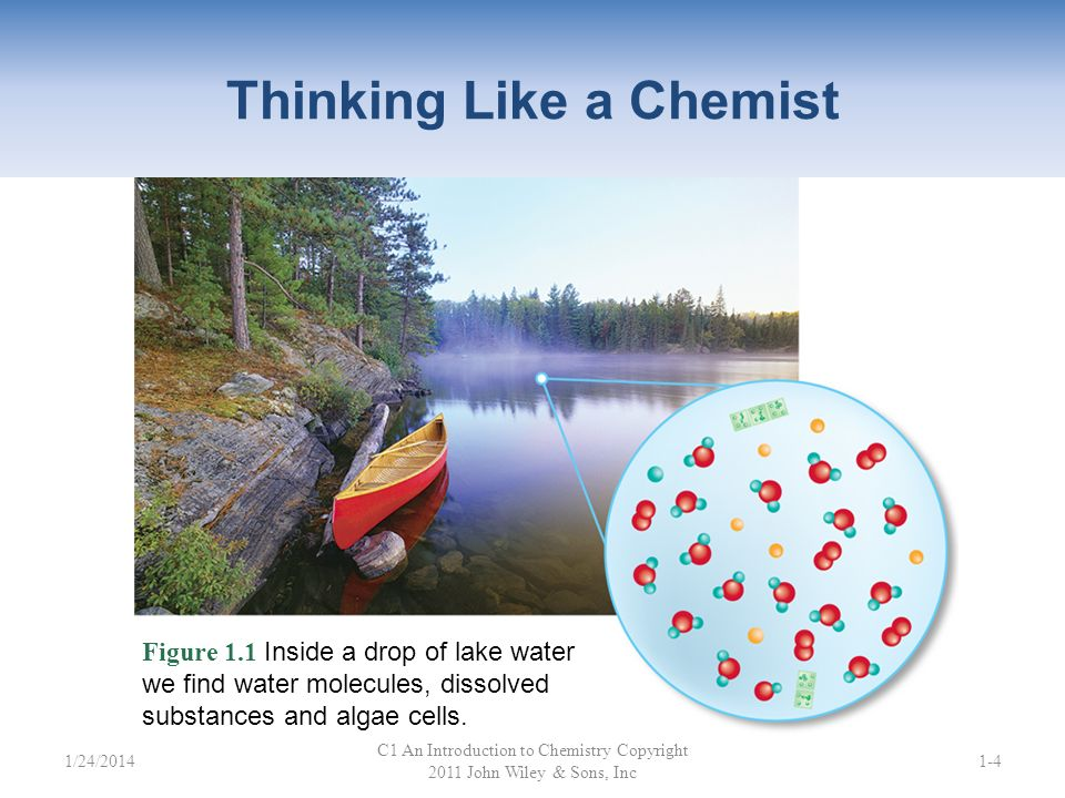 Classifying Matter A substance has a definite, fixed composition – Element (Na, Cl 2, Al) – Compound (NaCl, H 2 O, CO 2 ) – also called pure substance C1 An Introduction to Chemistry Copyright 2011 John Wiley & Sons, Inc 1-241/24/2014