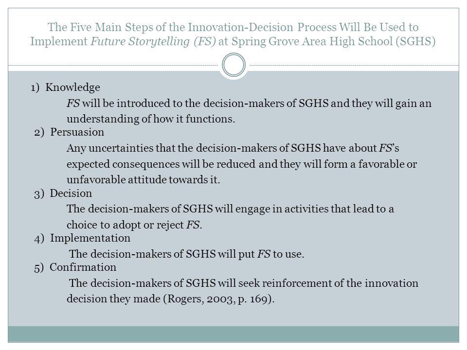CORA M. ROUSH Implementation of An Emerging Technology: Future Storytelling