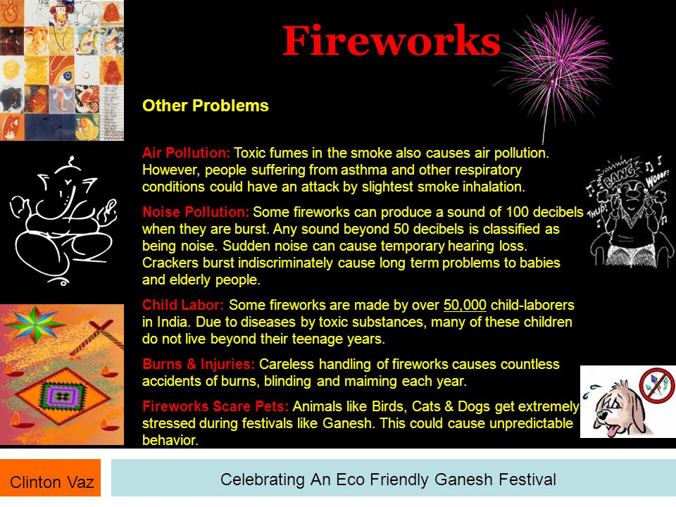 Fireworks Clinton Vaz Celebrating An Eco Friendly Ganesh Festival Solutions Look for child-labour free labeling on firework box.