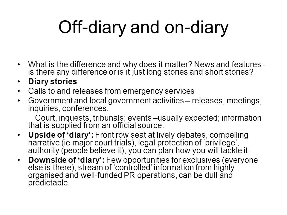 What is off-diary.What are off-diary stories.