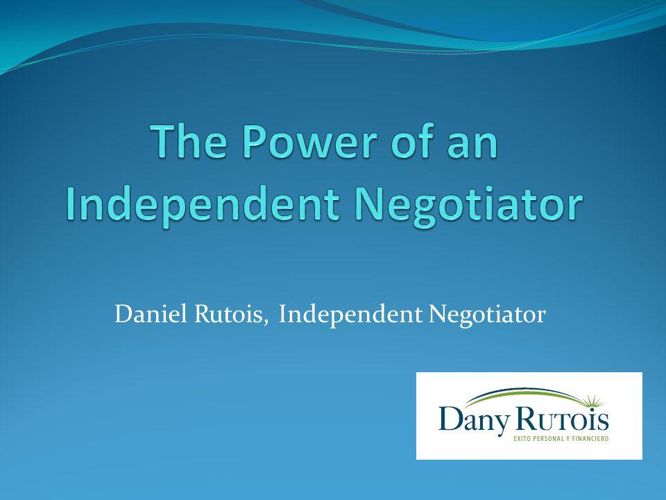 Daniel Rutois, Independent Negotiator