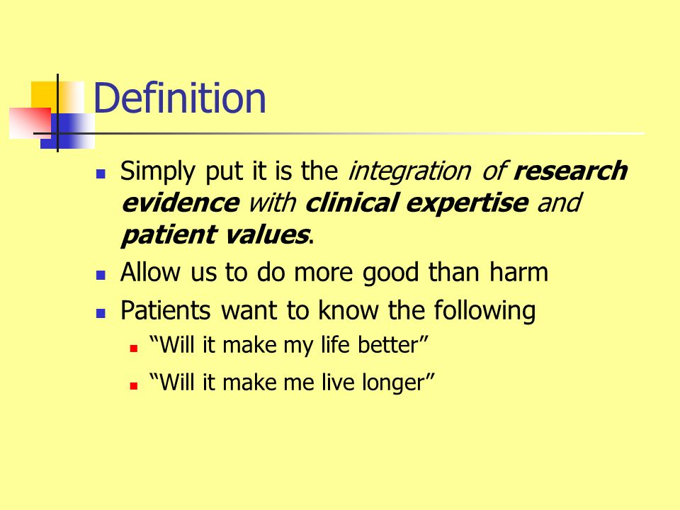 What EBM is not Cookbook medicine The perfect answer A way for the government to save money A substitute for thinking