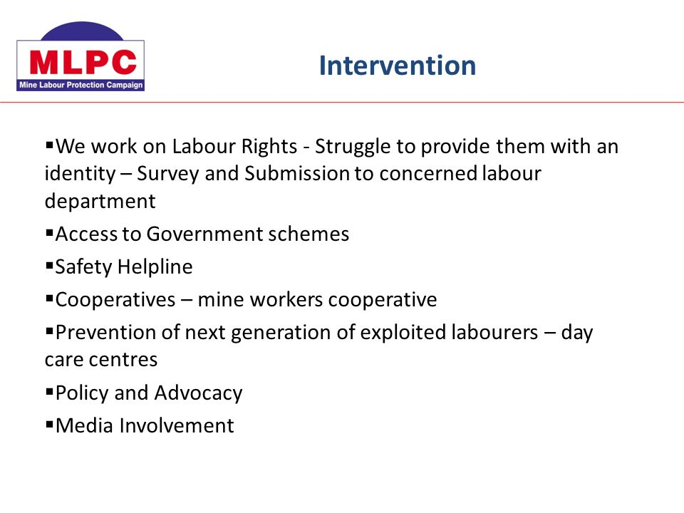 We work on Labour Rights - Struggle to provide them with an identity – Survey and Submission to concerned labour department Access to Government schem