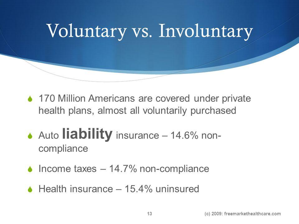 Voluntary vs.