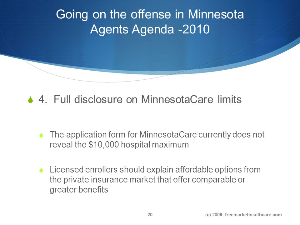 Going on the offense in Minnesota Agents Agenda