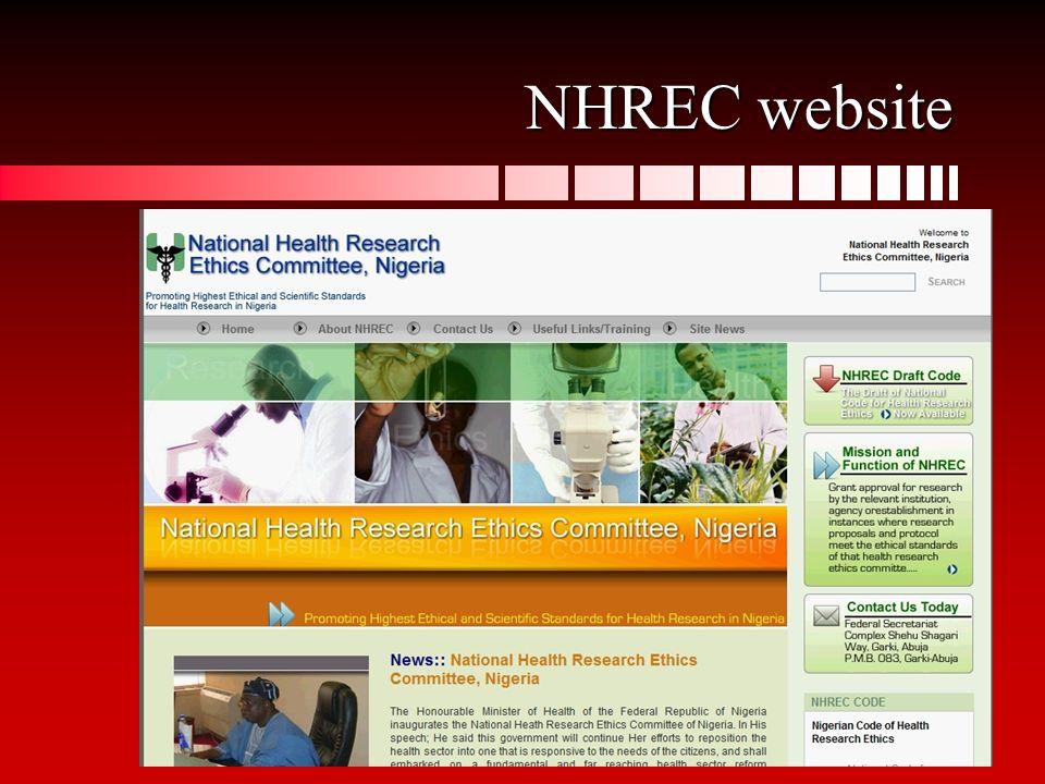14 NHREC website
