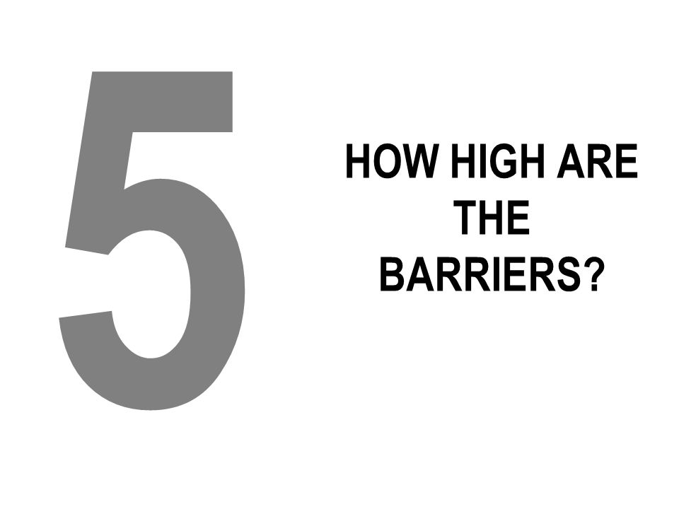 HOW HIGH ARE THE BARRIERS? 5