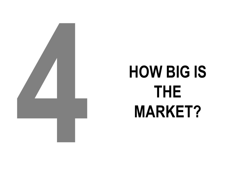 HOW BIG IS THE MARKET? 4