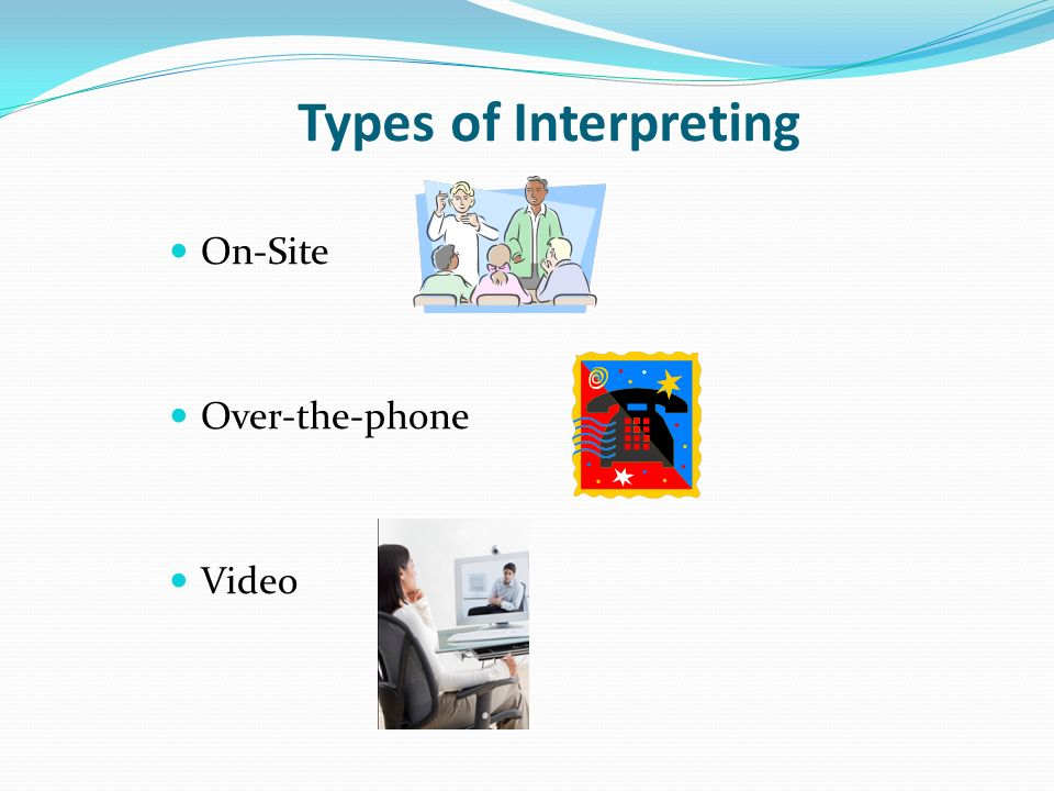 Types of Interpreting On-Site Over-the-phone Video