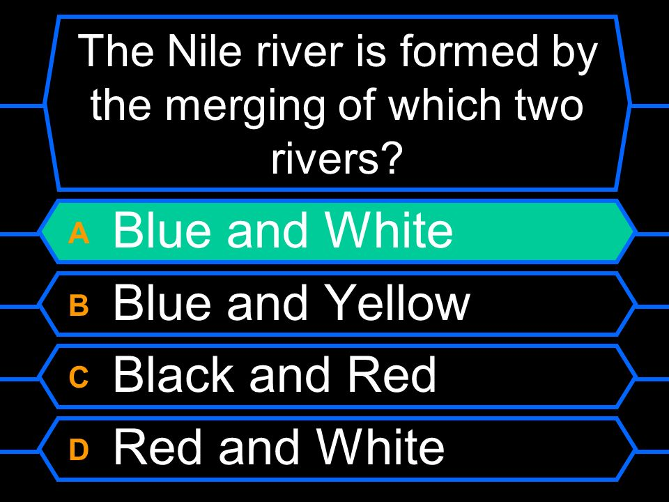 The Nile river is formed by the merging of which two rivers.